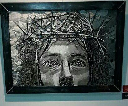 Muestra de mosaico Teresa Llano 2017